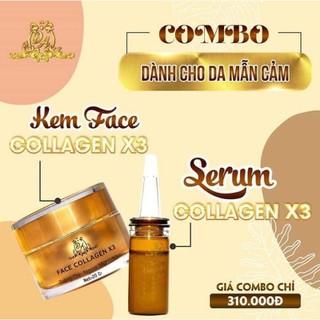 Combo kem Face và serum Collagen x3 mờ nám hết tàn nhang 20ml - Combo kem face serum thumbnail