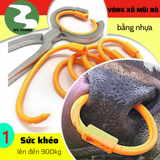 Vòng xỏ mũi bò bằng nhựa Pakistan ( Có Chốt ) - VXMN1 thumbnail
