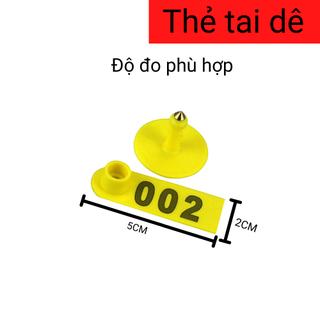 Thẻ đeo tai bò dê heo TPU 5cm Nhập khẩu - TDTBD1 3