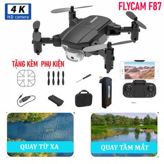 Flycam mini F87 camera 4K, máy bay điều khiển quay phim HD, Drones mini giá rẻ - Flycam mini F87 siêu cấp camera thumbnail