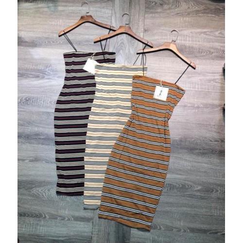 Váy 2 dây sọc ngang cá tính form đẹp cho ngày hè