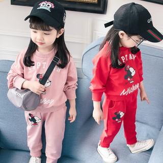 Bộ quần áo thu đông trẻ em 7-17kg dành cho bé gái mẫu Mickey nhí - MK Nhí thumbnail