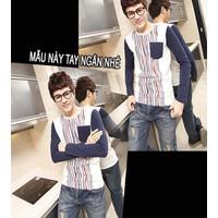 áo thun nam sọc đứng cá tính Mã: VT0176