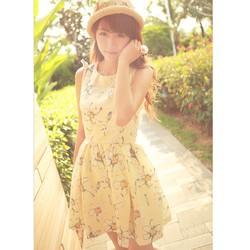 đầm dạo phố babydoll hoa váy phồng Mã: DA3042
