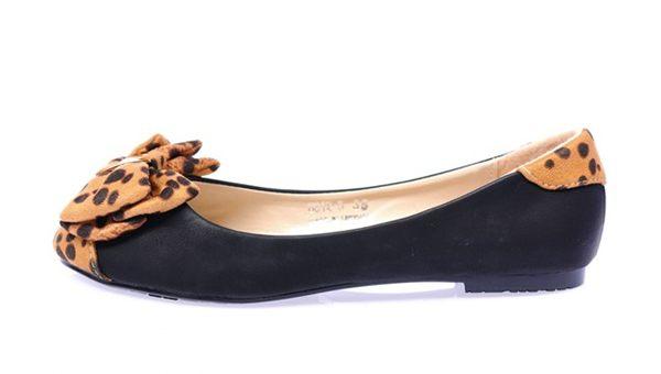 Giày búp bê siêu êm không đau chân không rớt gót màu đen nơ cực xinh 2
