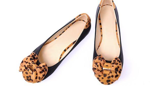 Giày búp bê siêu êm không đau chân không rớt gót màu đen nơ cực xinh 3