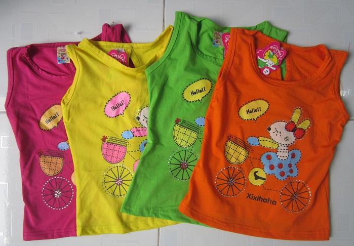 Áo thun cho bé gái 1 - 8 tuổi 3