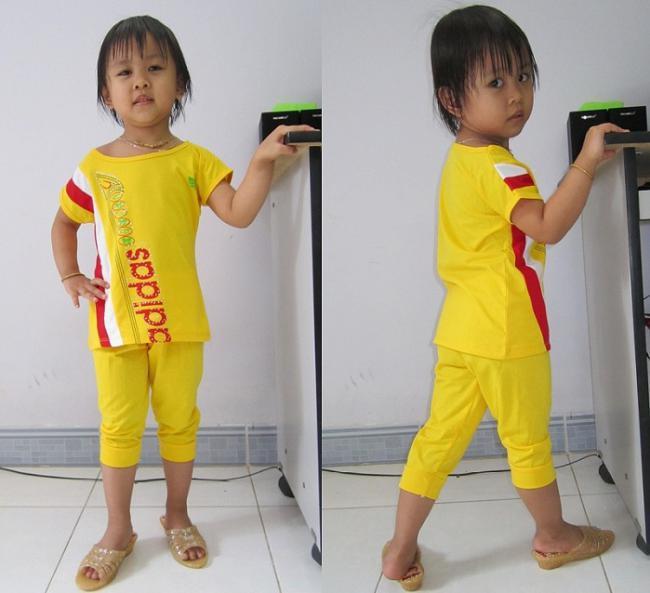 Hình ảnh Bộ Đồ thun Adidas dành cho bé giái 9 – 12 Tuổi Giá 60,000 VND 1