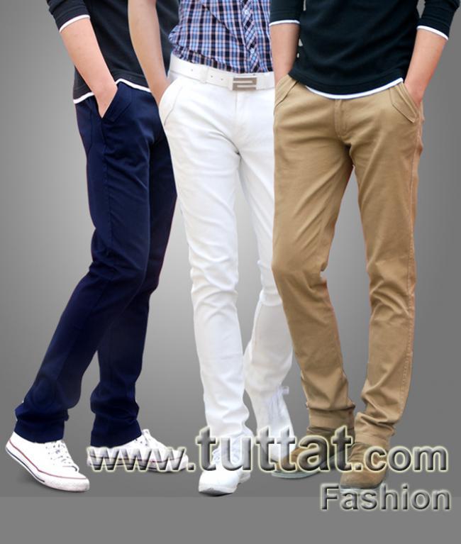 Hình ảnh Quần kaki màu trơn quần kaki nam quần thô nam QDK005 1