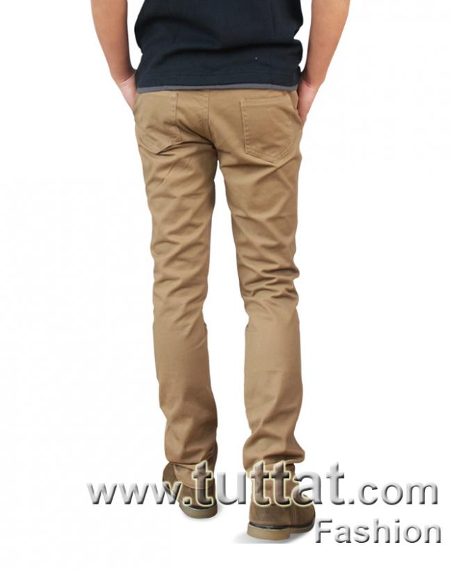 Hình ảnh Quần kaki màu trơn quần kaki nam quần thô nam QDK005 3