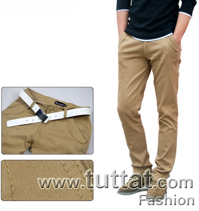 Hình ảnh Quần kaki màu trơn quần kaki nam quần thô nam QDK005 4