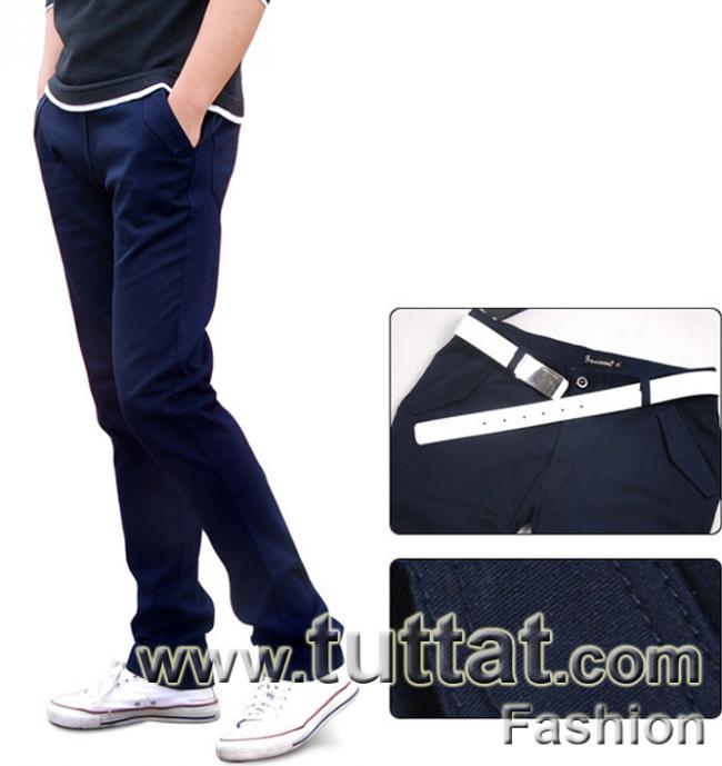 Hình ảnh Quần kaki màu trơn quần kaki nam quần thô nam QDK005 5